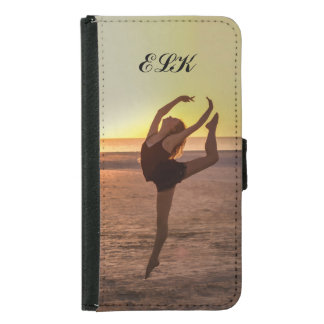 Ballet on the Beach, Monogram Wallet Phone Case For Samsung Galaxy S5
