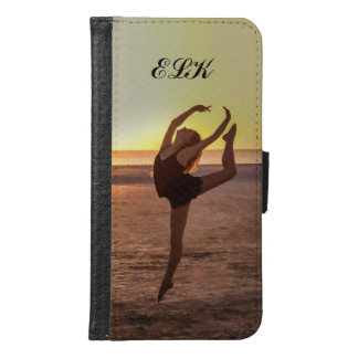 Ballet on the Beach, Monogram Wallet Phone Case For Samsung Galaxy S6
