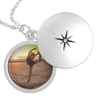 Ballet on the Beach Round Locket Necklace
