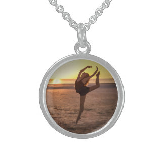 Ballet on the Beach Sterling Silver Necklace
