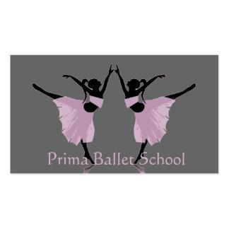 ballet or dance school business cards