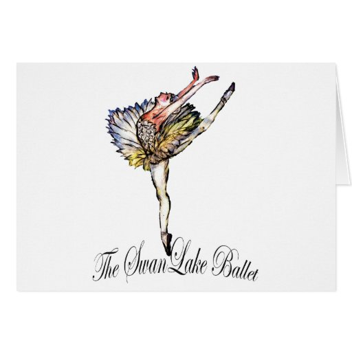 ¡Ballet original del lago swan por Latidaballet! Tarjetas