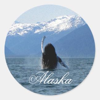 Ballet pacífico; Alaska Pegatinas Redondas