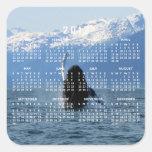 Ballet pacífico; Calendario 2012 Calcomanías Cuadradass Personalizadas
