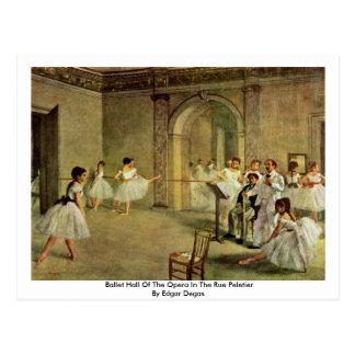 Ballet Pasillo de la ópera en la ruda Peletier Tarjeta Postal