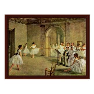 Ballet Pasillo de la ópera en la ruda Peletier Postales