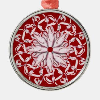 Ballet Pattern (pink) Metal Ornament