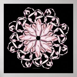Ballet Pattern (pink) Poster