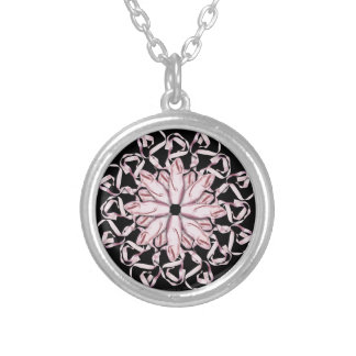 Ballet Pattern (pink) Silver Plated Necklace