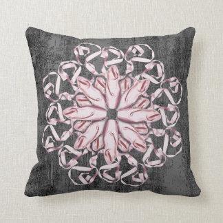 Ballet Pattern (pink) Throw Pillow