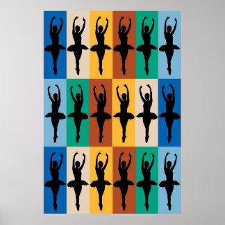 Ballet Pattern Poster