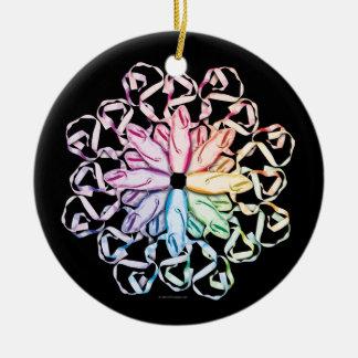 Ballet Pattern (spectral) Ceramic Ornament