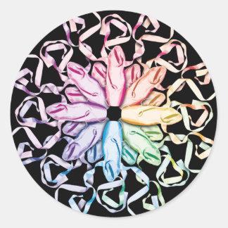 Ballet Pattern (spectral) Classic Round Sticker