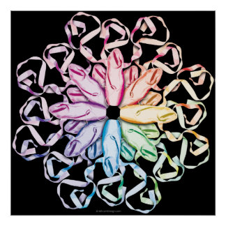 Ballet Pattern (spectral) Poster