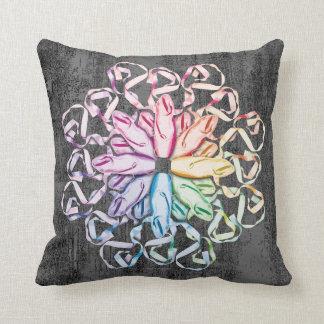 Ballet Pattern (spectral) Throw Pillow