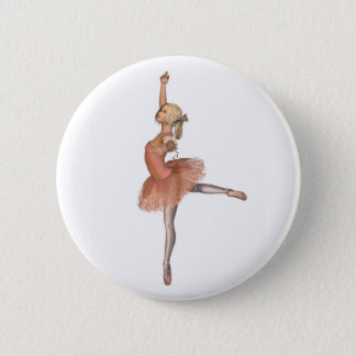 Ballet Performance - Attitude Pose Pinback Button
