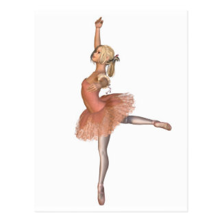 Ballet Performance - Attitude Pose Postcard