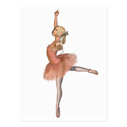 Ballet Performance - Attitude Pose Post Cards