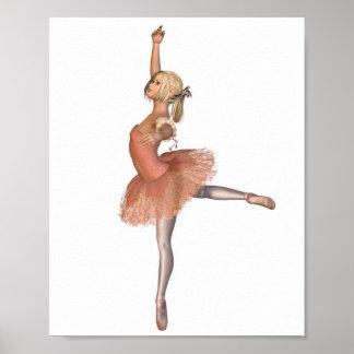 Ballet Performance - Attitude Pose Poster