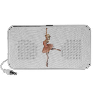 Ballet Performance - Attitude Pose Portable Speakers