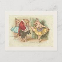 Ballet Pig Postcard