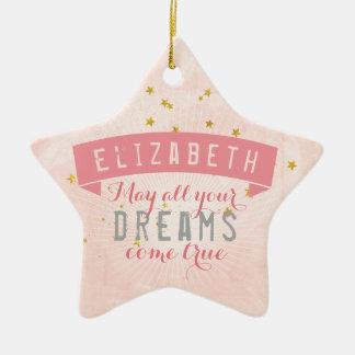 Ballet Pink Baby Sweet Dreams Ceramic Ornament