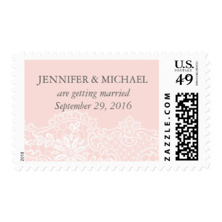 Ballet Pink Lace Wedding Postage