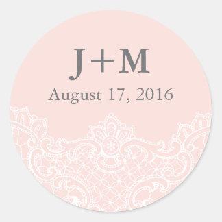 Ballet Pink Lace Wedding Sticker