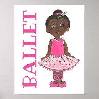 BALLET Pink Tutu Girl Ballerina Dance Studio Poster