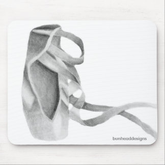 Ballet Pointe Shoe Graphic Mousepads