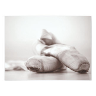 Ballet Pointe Shoes on Dance Floor Template