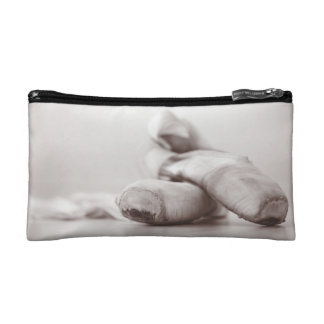 Ballet Pointe Shoes on Dance Floor Template Cosmetic Bag