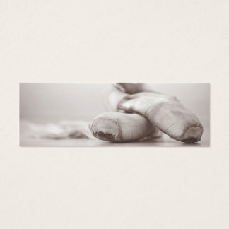 Ballet Pointe Shoes on Dance Floor Template Mini Business Card