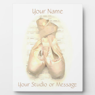 Ballet Pointe Shoes Painted Personalized Plaque