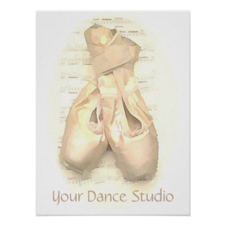 Ballet Pointe Shoes Painted Personalized Poster