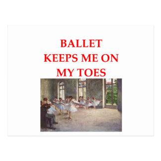 ballet postcard