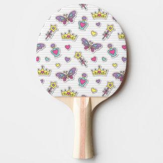 ballet princess pattern ping pong paddle