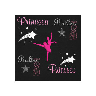 Ballet Princess Stretched Canvas Print