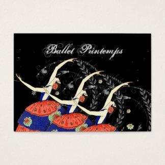 Ballet Printemps Ballerina Design Business Business Card