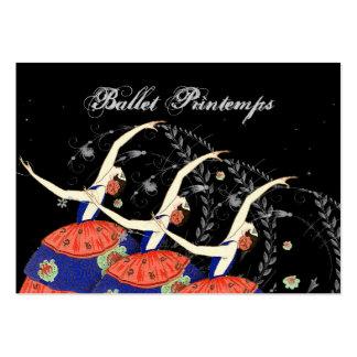 Ballet Printemps Ballerina Design Business Large Business Card