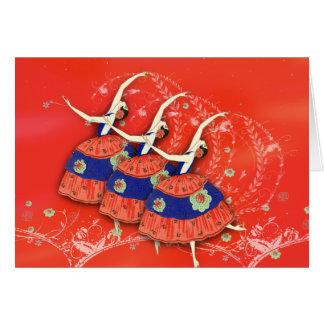 Ballet Printemps Ballerinas Red Version Stationery Note Card