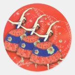 Ballet Printemps in Red Ballerina Labels Sticker