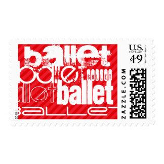 Ballet; Rayas del rojo del escarlata Timbre Postal