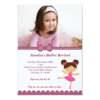 Ballet Recital 5x7 Paper Invitation Card
