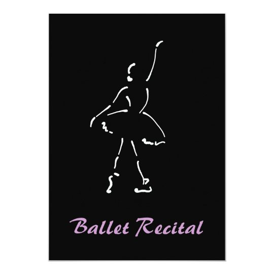 Ballet Recital Black and Pink Card