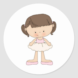 Ballet recital cards and thank you cards classic round sticker