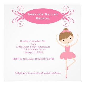 Ballet Recital Custom Invitation