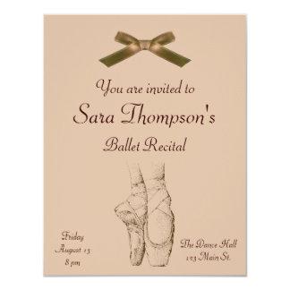 """Ballet Recital Invitation 4.25"""" X 5.5"""" Invitation Card"""