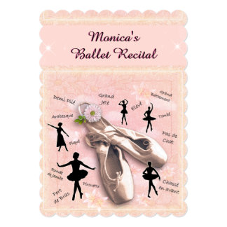 Ballet Recital Invitation