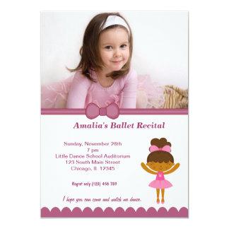 """Ballet Recital 5"""" X 7"""" Invitation Card"""